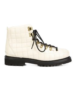 Buttero | Quilted Lace Up Ankle Boots 37 Leather/Rubber