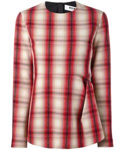 MSGM | Gathe Plaid Blouse 44 Virgin Wool/Polyester