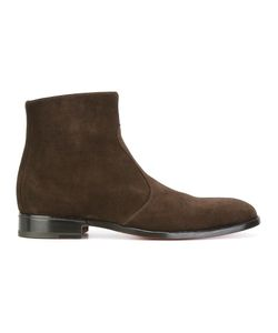 Jean-Michel Cazabat | Side Zip Ankle Boots 44 Suede/Leather/Rubber