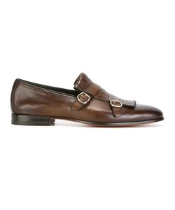 Santoni | Classic Monk Shoes 8.5 Calf Leather/Leather