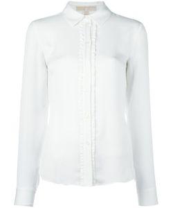 Michael Michael Kors | Frill Detail Shirt Small Silk