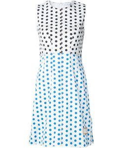 J.W. Anderson | J.W.Anderson Polka-Dot Panelled Dress 8 Cotton/Spandex/Elastane