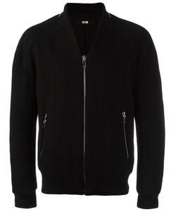 SYSTEM HOMME | Zipped Bomber Jacket Large Polyurethane/Wool