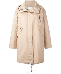 Helmut Lang | Zipped Up Parka Coat Medium Cotton/Sheep