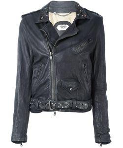 Pihakapi | Studded Lapel Biker Jacket Xs Leather/Viscose