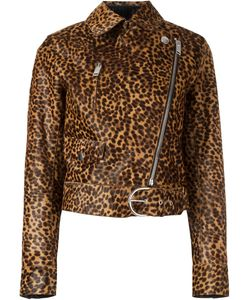 Isabel Marant | Tiger Print Jacket Size 42 Calf Leather/Viscose/Acetate