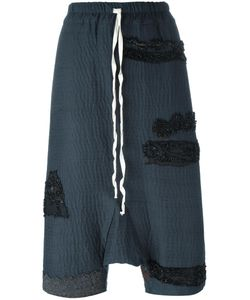 BY WALID | Drop Crotch Cropped Pants Large Cotton