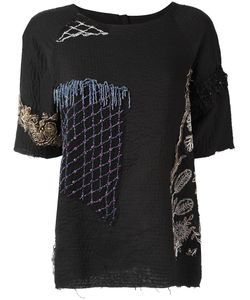 BY WALID | Embellished T-Shirt Medium Cotton