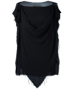 Vivienne Westwood Anglomania | Sleeveless Draped Blouse 44 Viscose