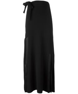 Helmut Lang | Ribbon Detail Skirt 8 Viscose/Acetate/Spandex/Elastane