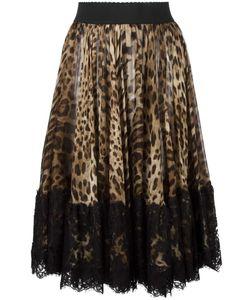 Dolce & Gabbana | Leopard Print Pleated Skirt 44