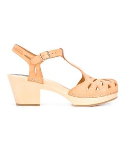 Swedish Hasbeens | Lacy Sandals 38 Leather/Rubber/Wood