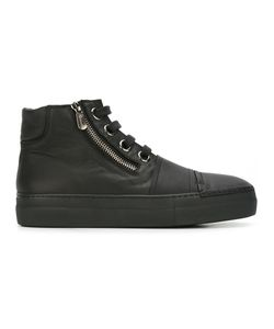 Rocco P. | Zipped Hi-Top Sneakers 35 Leather/Rubber