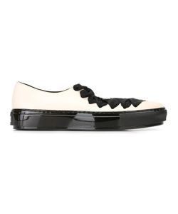 Marni | Lace Up Ballerina Sneakers 37 Rubber/Leather