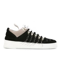 Filling Pieces | Stitching Detail Sneakers 39 Leather/Suede/Rubber
