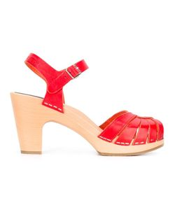 Swedish Hasbeens | Frica Sandals 36 Leather/Rubber/Wood