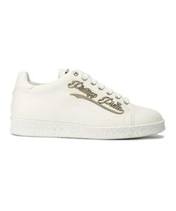 Philipp Plein | Logo Plaque Sneakers 43 Calf Leather/Leather/Rubber/Metal