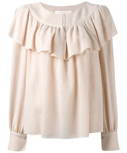 See By Chloe | See By Chloé Frill Detail Blouse 40 Viscose/Wool