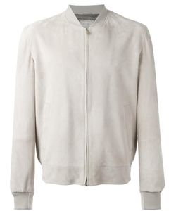 Brunello Cucinelli | Zipped Bomber Jacket Xl Cupro/Cotton/Leather