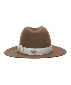 Borsalino | Strap Detail Fedora Hat 58 Beaver Fur