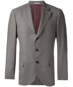Brunello Cucinelli | Flap Pocket Blazer 54 Wool/Linen/Flax/Silk/Cupro