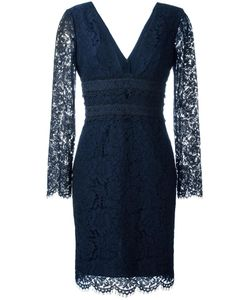 Diane Von Furstenberg | Deep V-Neck Lace Dress 8