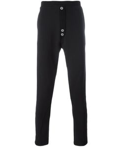 ALCHEMY | Button Detail Track Pants Large Cotton/Spandex/Elastane