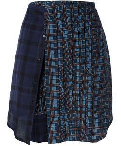 A.F.Vandevorst | School Skirt 40 Viscose/Wool/Silk/Spandex/Elastane