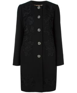 Dolce & Gabbana | Embroidered Coat 40 Polyester/Spandex/Elastane/Virgin