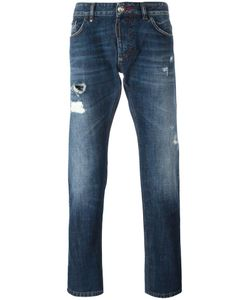 Philipp Plein | Flamingo Straight-Leg Jeans 33 Cotton/Polyester