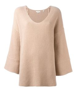 Chinti And Parker | Flared Sleeve Jumper Medium Cashmere/Merino