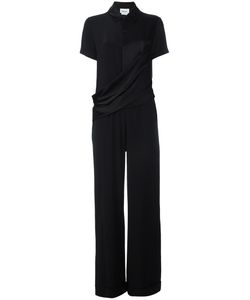 DKNY | Draped Front Shirt Jumpsuit 6 Triacetate/Polyester