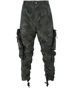 424 Fairfax | Twill Camouflage Cargo Trousers Large Cotton