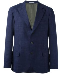 Brunello Cucinelli | Checked Blazer 52 Cupro/Virgin Wool/Silk/Linen/Flax