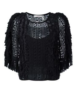 See By Chloe | See By Chloé Embroidered Crochet Fringed Blouse 40
