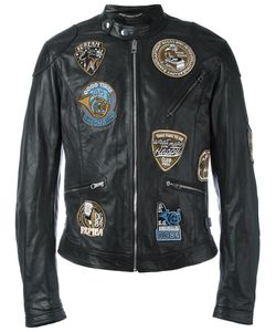 Dolce & Gabbana | Musical Patch Leather Jacket 50