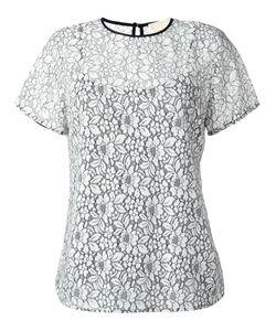 Michael Michael Kors | Lace T-Shirt Large Viscose/Nylon/Polyester