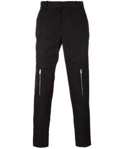 Alexander McQueen | Zip Detail Straight-Leg Trousers 46 Cotton/Acetate/Viscose