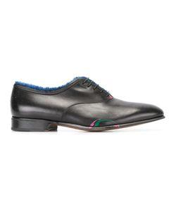 Salvatore Ferragamo   Fur Lined Paint Shoes 9 Leather/Rabbit