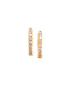 ROSA DE LA CRUZ | Diamond Hoop Earrings