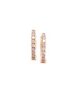 ROSA DE LA CRUZ | Diamond Hoop Earrings
