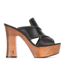 Saint Laurent   Platform Sandals 38.5 Calf Leather/Leather/Rubber
