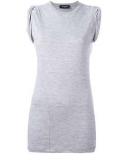 Dsquared2 | Ruched Cap Sleeve Top Medium Cotton/Viscose