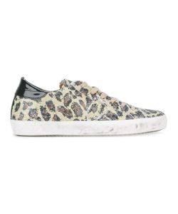 Philippe Model | Leopard Print Sneakers 40 Leather/Rubber/Cotton