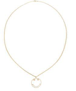 ROSA DE LA CRUZ | Smiley Diamond Pendant Necklace