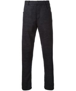 ASSIN | Five Pocket Tapered Trousers Large Silk/Linen/Flax