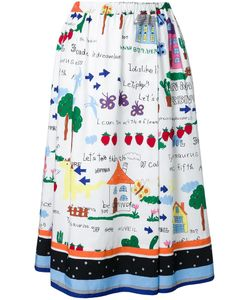 Muveil | Printed Full Skirt 40 Cotton