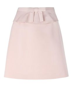 Red Valentino | Belted Detailing Skirt 44 Cotton/Viscose
