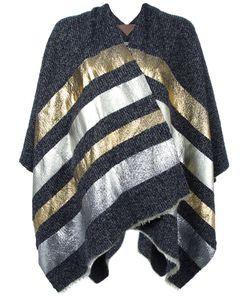 ERMANNO GALLAMINI   Striped Cape Wool