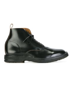 Buttero | Curved Oxford Detail Boots 43 Leather/Rubber